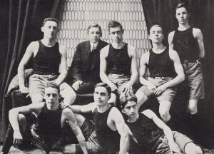 1912 photo of the men's basketball team